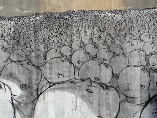 murales cracovia, head cracovia, blu cracovia, head street art, people street art