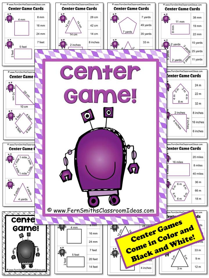 Fern Smith's Classroom Ideas Perimeter Pete Mega Math Pack - Finding Perimeter Printables, Task Cards and Center Game For 3.MD.D.8 at TPT.