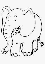 mewarnai gambar gajah untuk anak 13