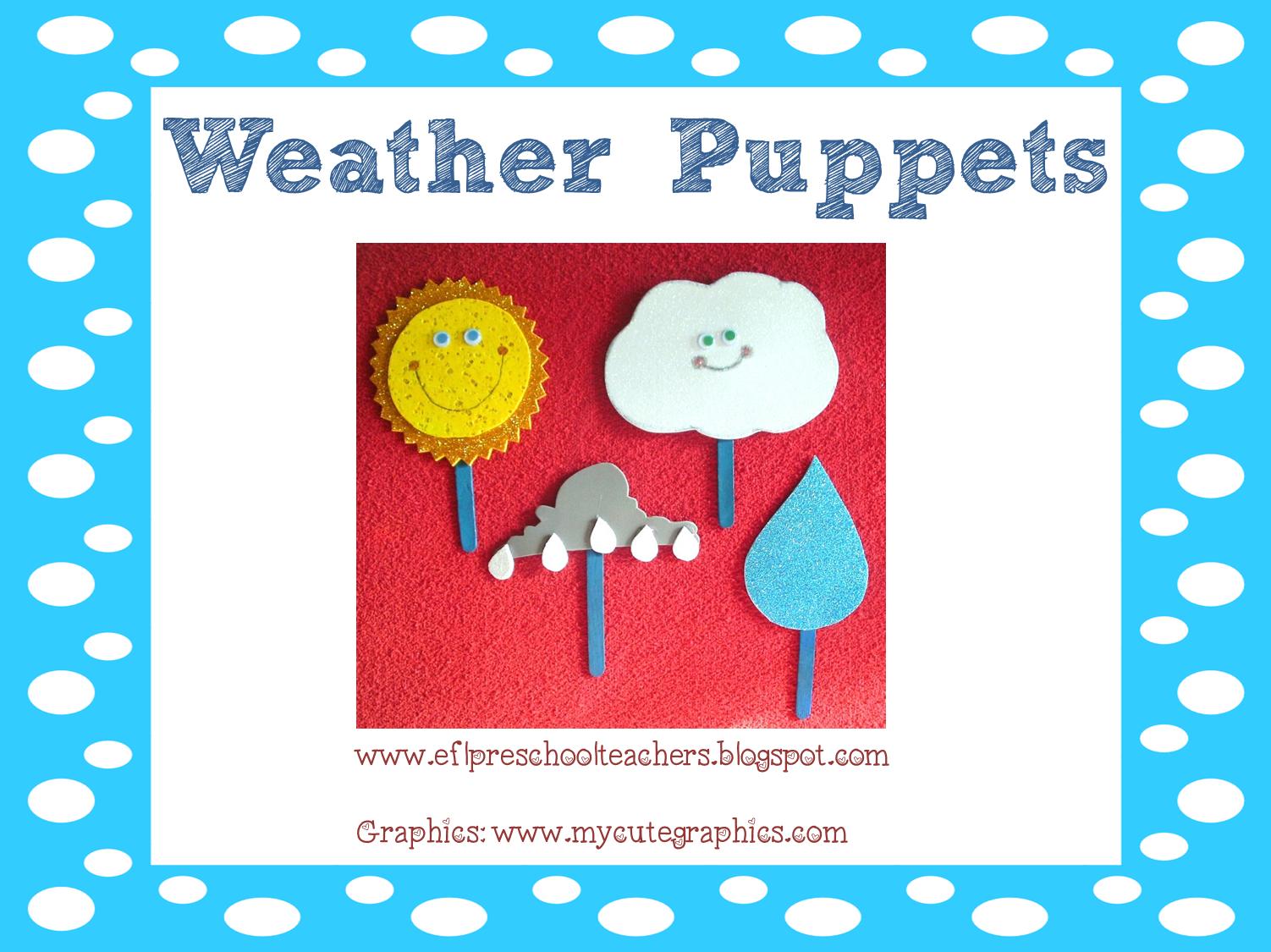 esl  efl preschool teachers  weather theme resources for