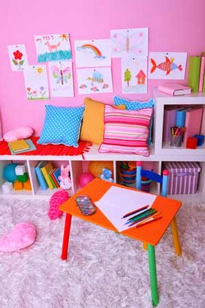 Organized Child's Playroom at Home