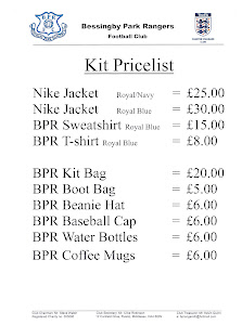 BPR Merchandising Price List