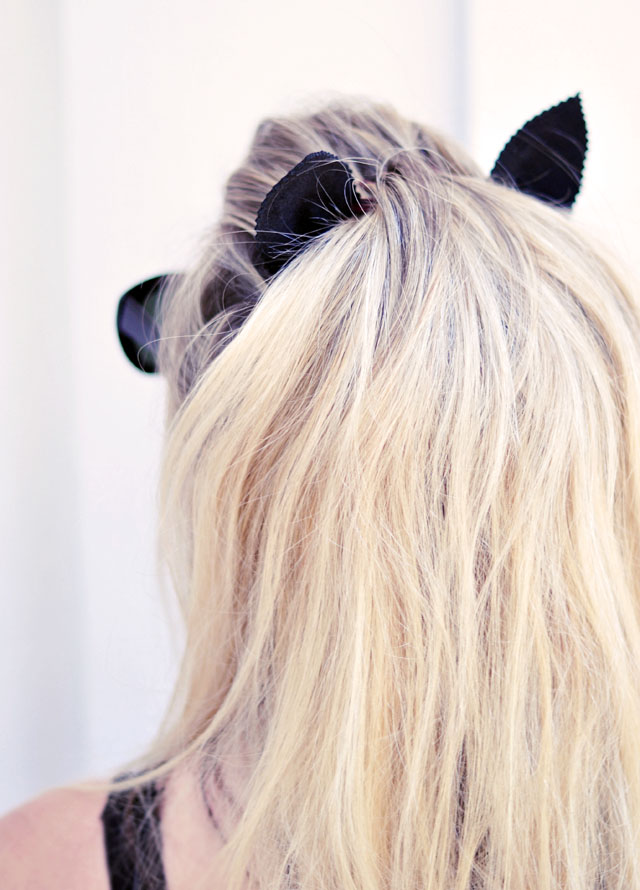DIY Leather Cat Ears Headband