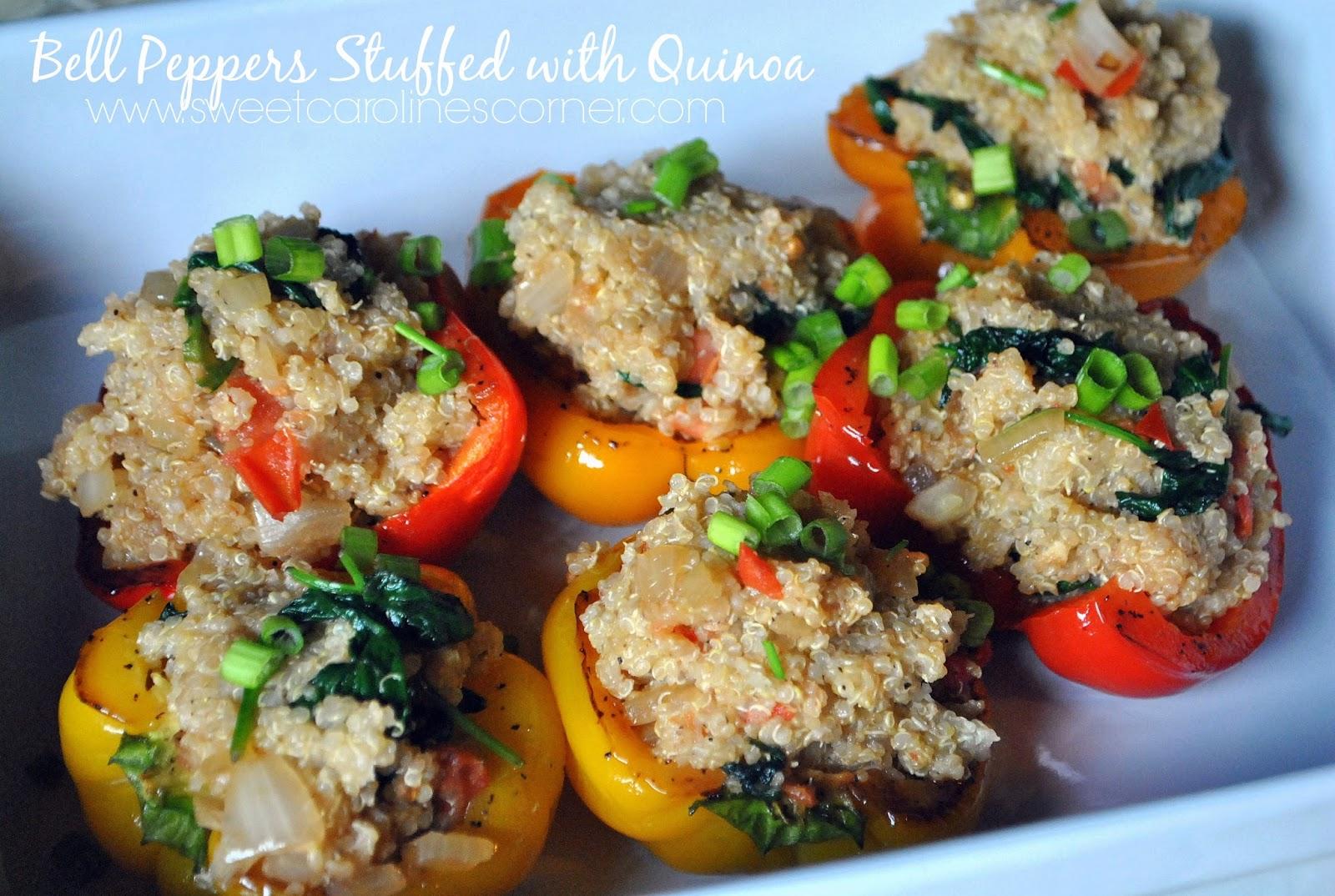 bell peppers stuffed with quinoa (pimentões recheados com quinoa)