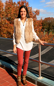 Outfit of the day faux fur www.likesopretty.com