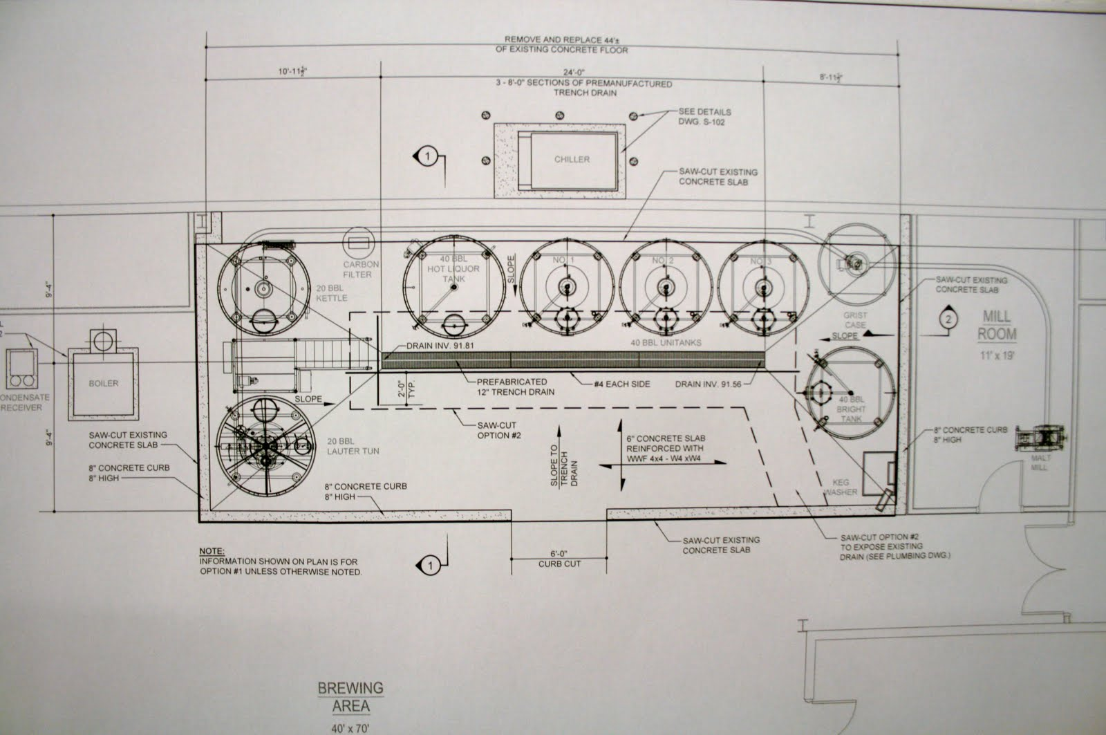 Kane brewing company brewery plans for Brewery floor plan