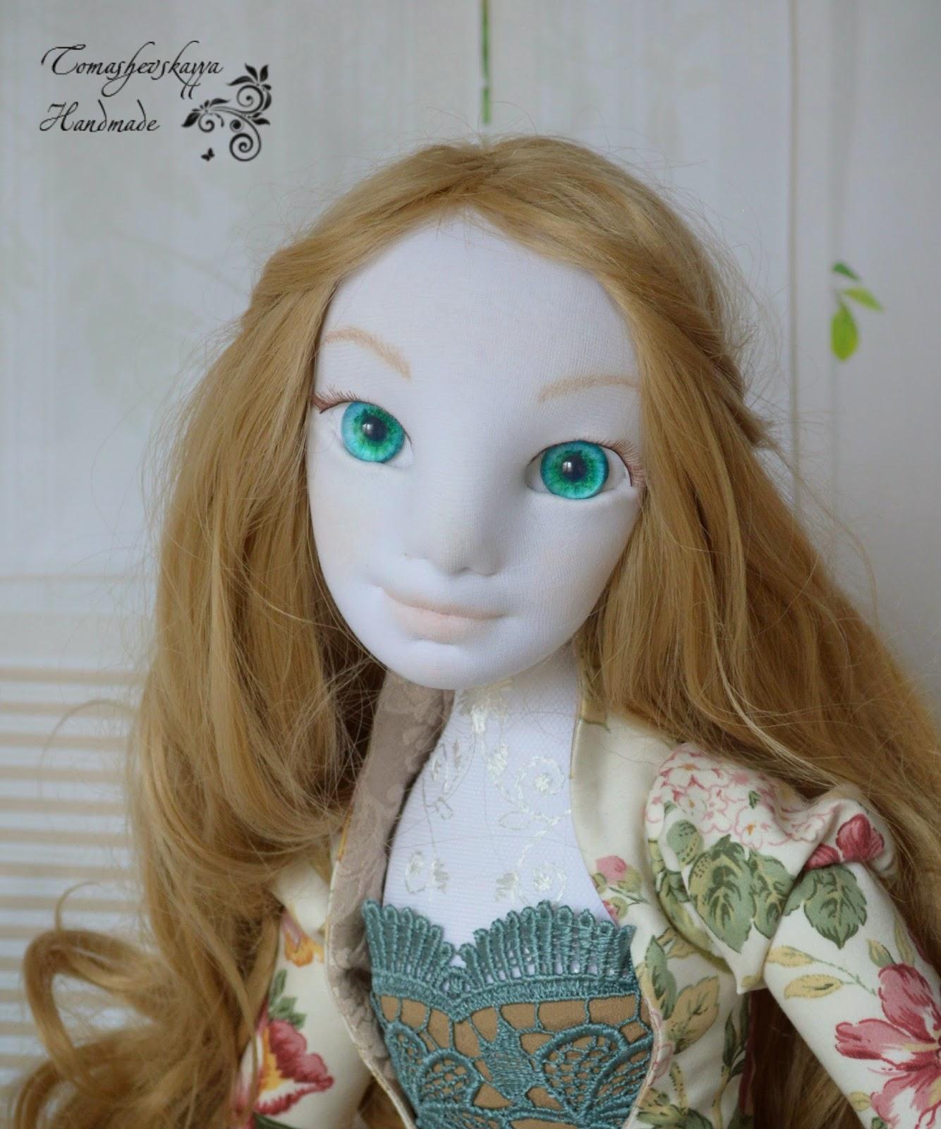 Картинка будуарная кукла с объемным лицом