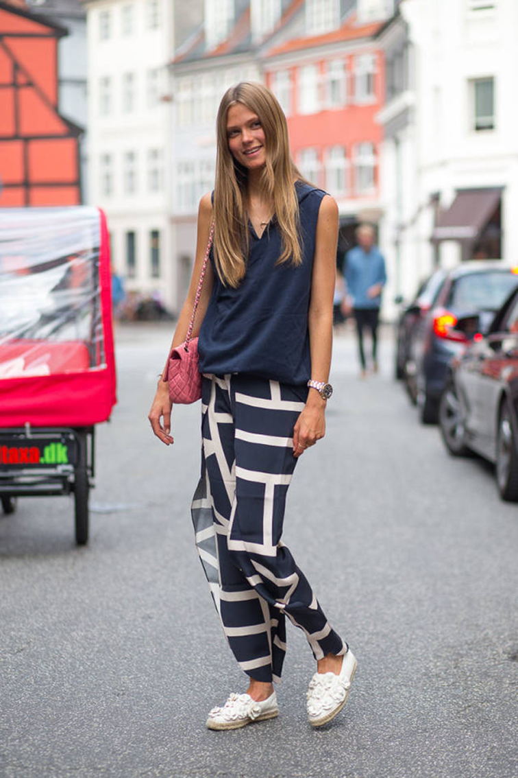 Caroline Brasch Nielsen street style during Coppenhagen Fashion Week 2014 on Harper's Bazaar, model off duty