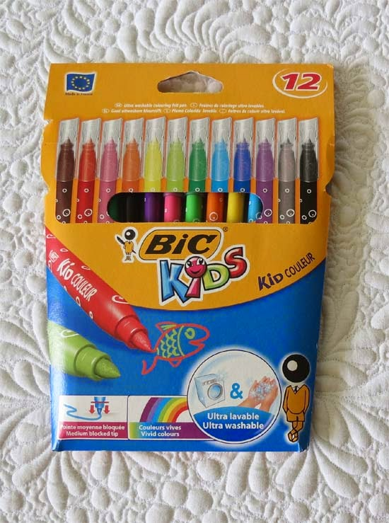 Washable markers for quilting