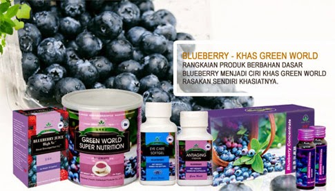 Produk Green World dengan Bahan BLUEBERRY