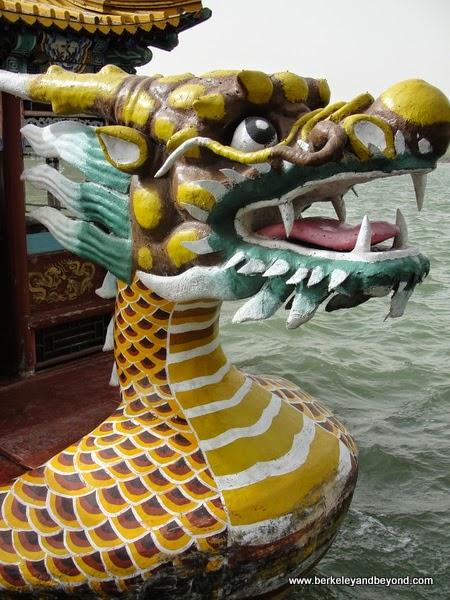 dragon at helm of boat ride at Summer Palace in Beijing, China