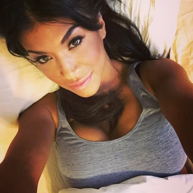 Sexy Photo of Rosa Mendes Laying Around in Bed.