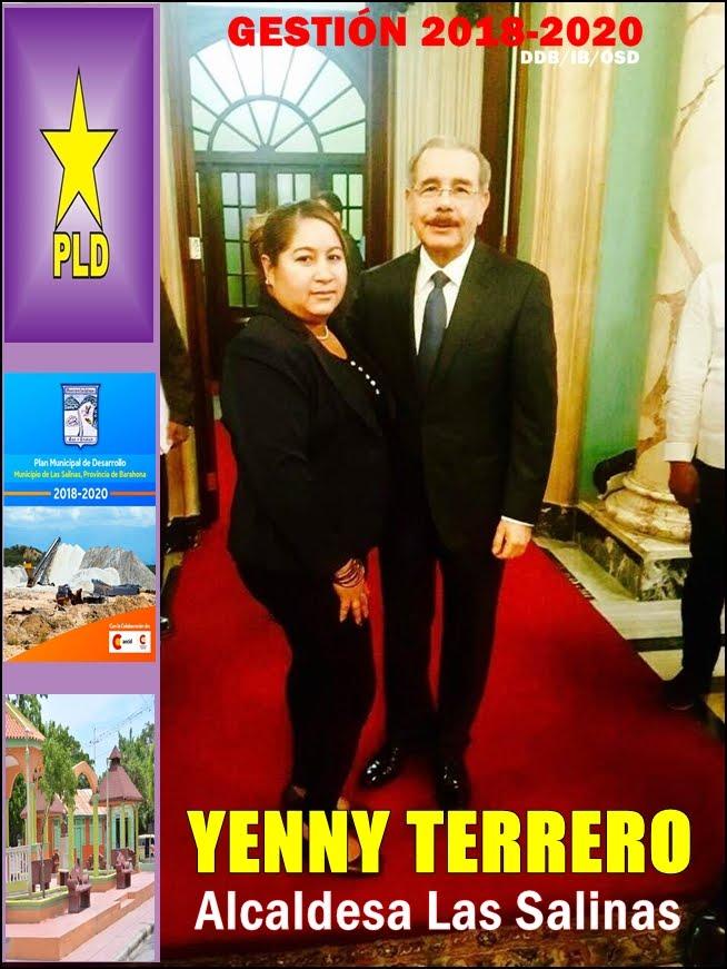 YENNY TERRERO, ALCALDESA MUNICIPIO DE LAS SALINAS 2018-2020