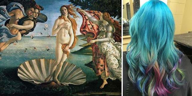 warna rambut seperti karya lukisan