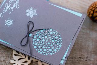 серо-мятная открытка