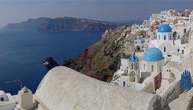 Santorini Kota-Kota Di Tepi Tebing Yang Indah Dan Menakjubkan