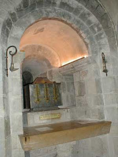 Altar of the the relics of St Benedict at Saint-Benoît-sur-Loire