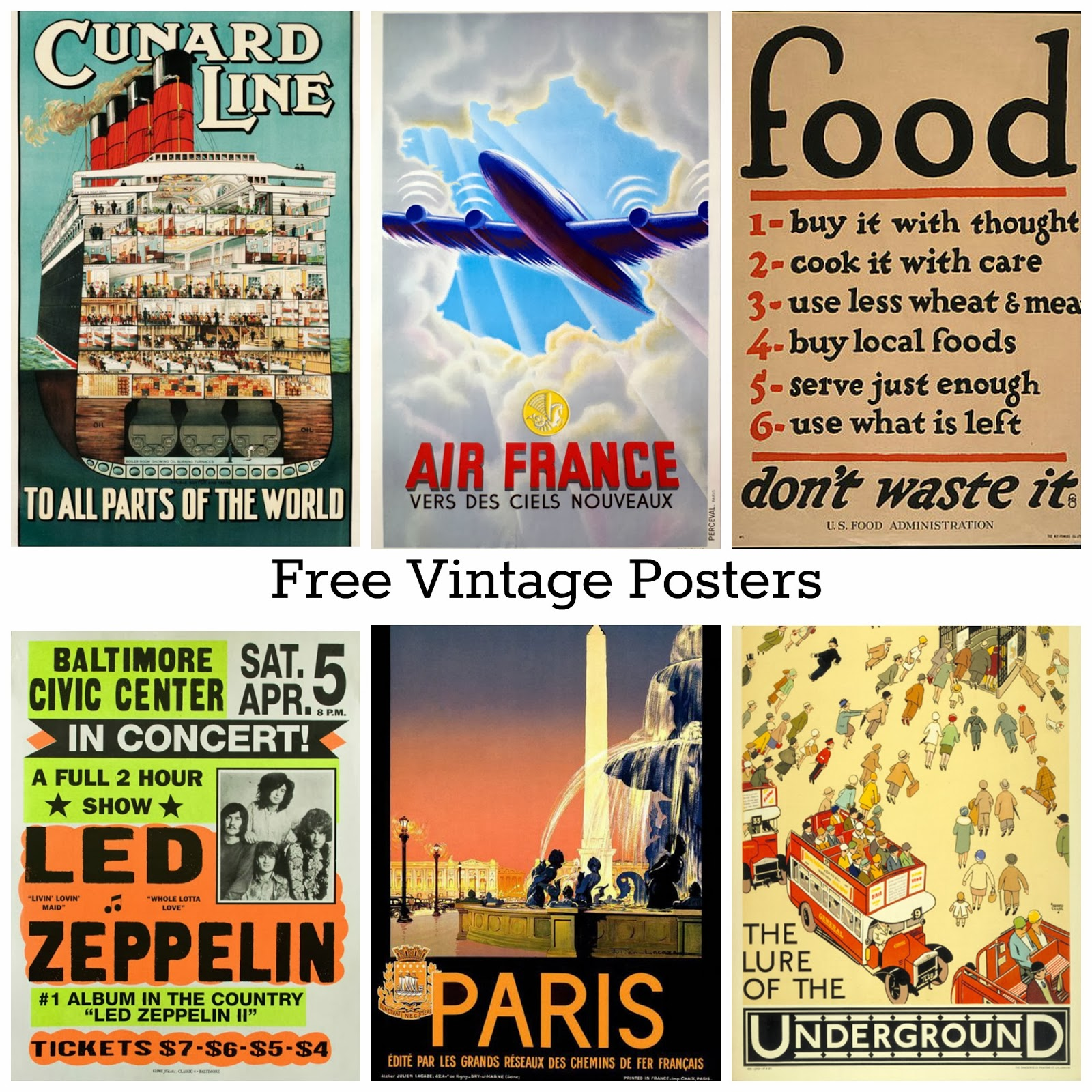 photograph regarding Free Printable Vintage Posters named Cost-free Printable Traditional Posters ~ Alternative Creations