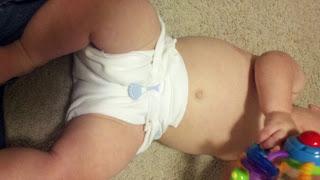 Flat diaper fold