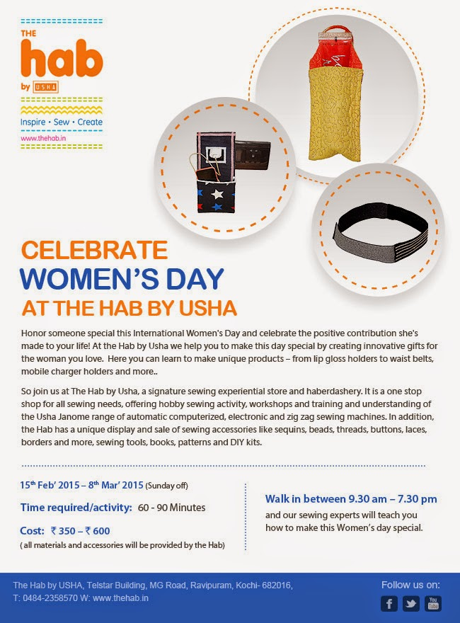 Celebrate Women's Day, at the Hab by Usha.