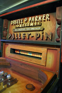 Hand Painted pallet pinball machine by stu dobell signs and jackson parker Australia