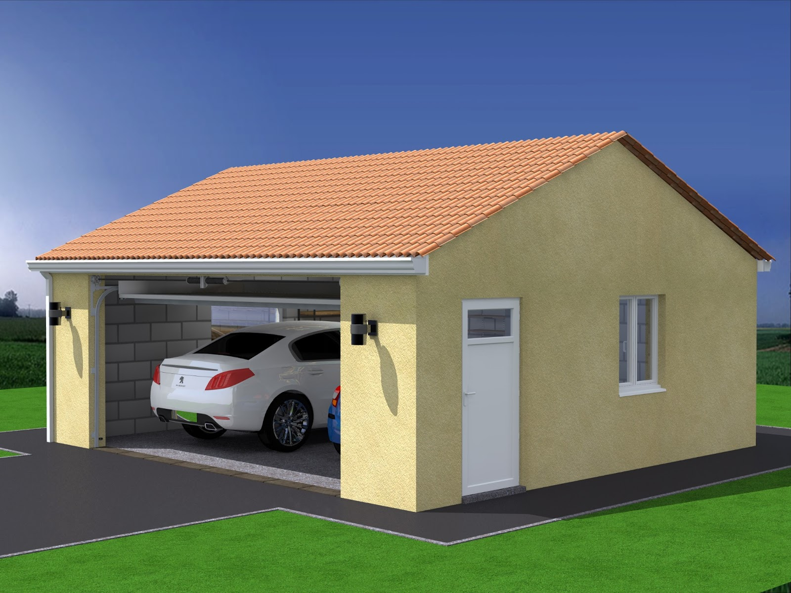 Conception construction de projets ext rieurs for Plan de garage