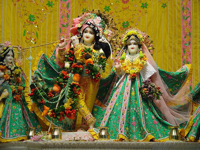 Shree Radha Krishna Shringar on Janamashtami HD Wallpaper