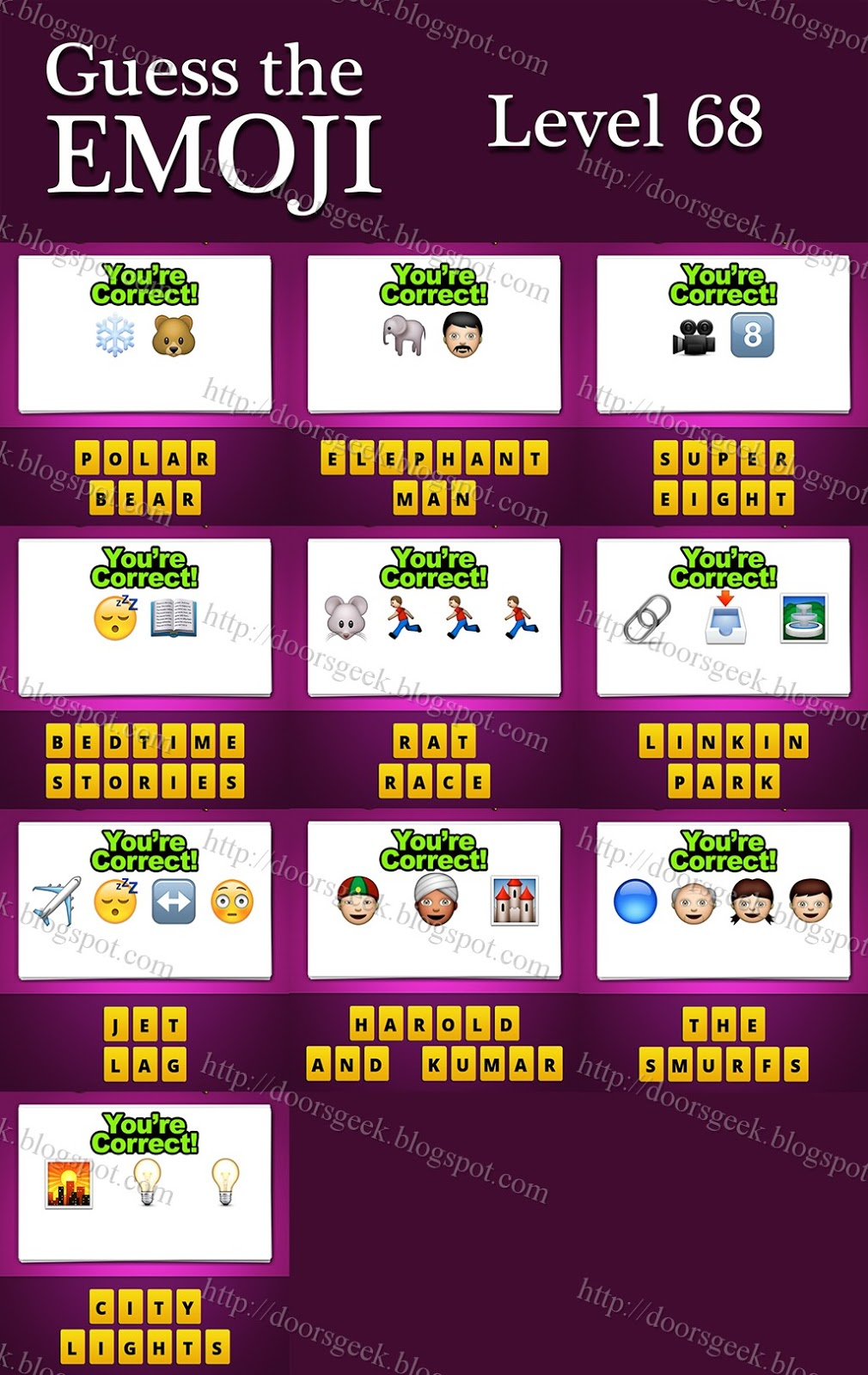 Guess The Emoji Level 68 Answers And Cheats Doors Geek
