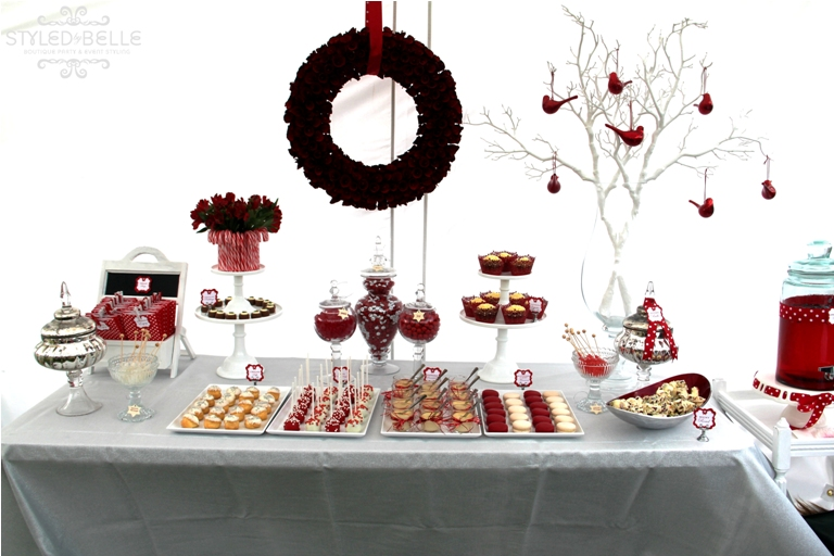 red and white christmas party ideas kayleemilleraa With christmas wedding shower ideas