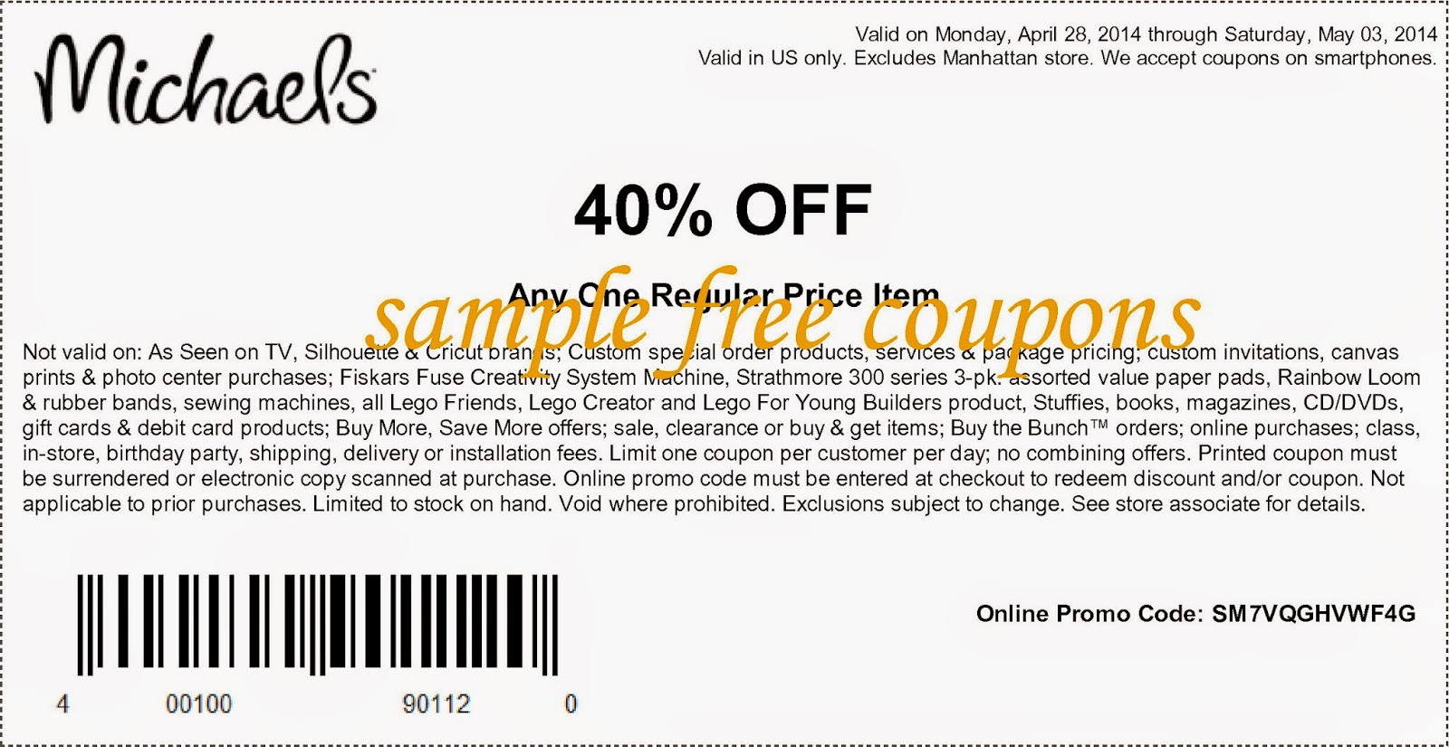 Michaels Printable Coupons 2014