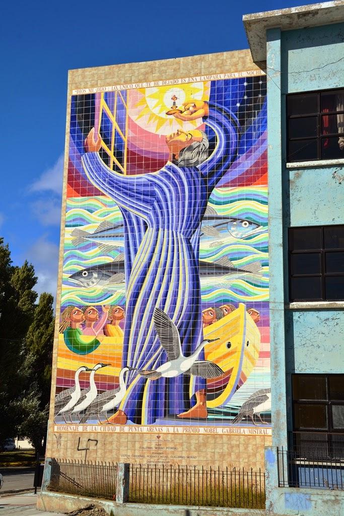 Punta Arenas Chile mosaic