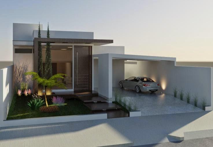 Fachadas de Casas Bonitas com Telhado - Simples e Modernas