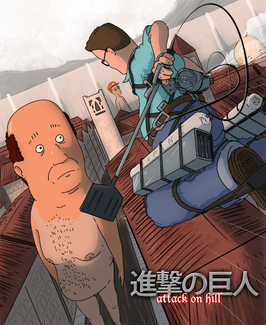 alternative art king of the hill + shingeki no hyojin