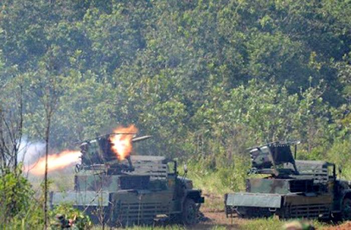 Demonstrasi Pertempuran TNI AD 2015