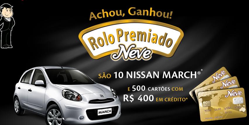 """Promoção """"Rolo Premiado Neve"""""""