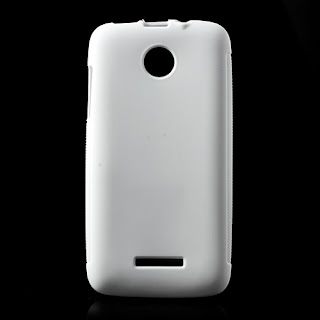 Skidproof TPU Jelly Case for Lenovo A390 - White