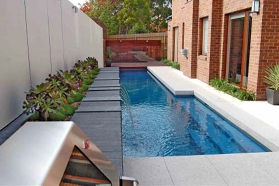 Tropical private pool tropical houses small private pool 2 for Pool design for small backyards