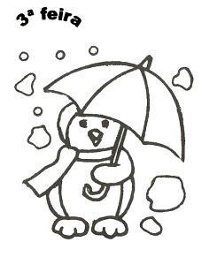 pinguim com guarda chuva