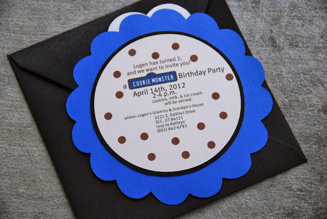 free printable cookie monster invites