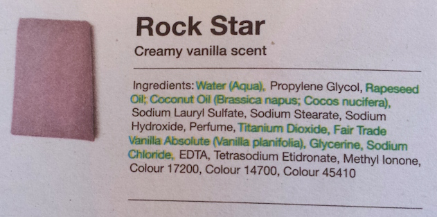 Lush Rock Star Soap Ingredients
