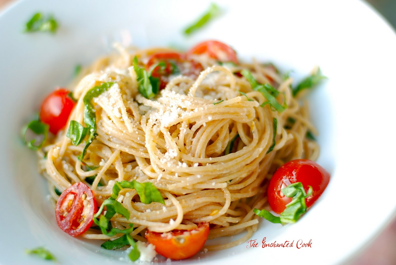 The enchanted cook ina 39 s summer garden pasta Ina garten capellini with tomatoes and basil