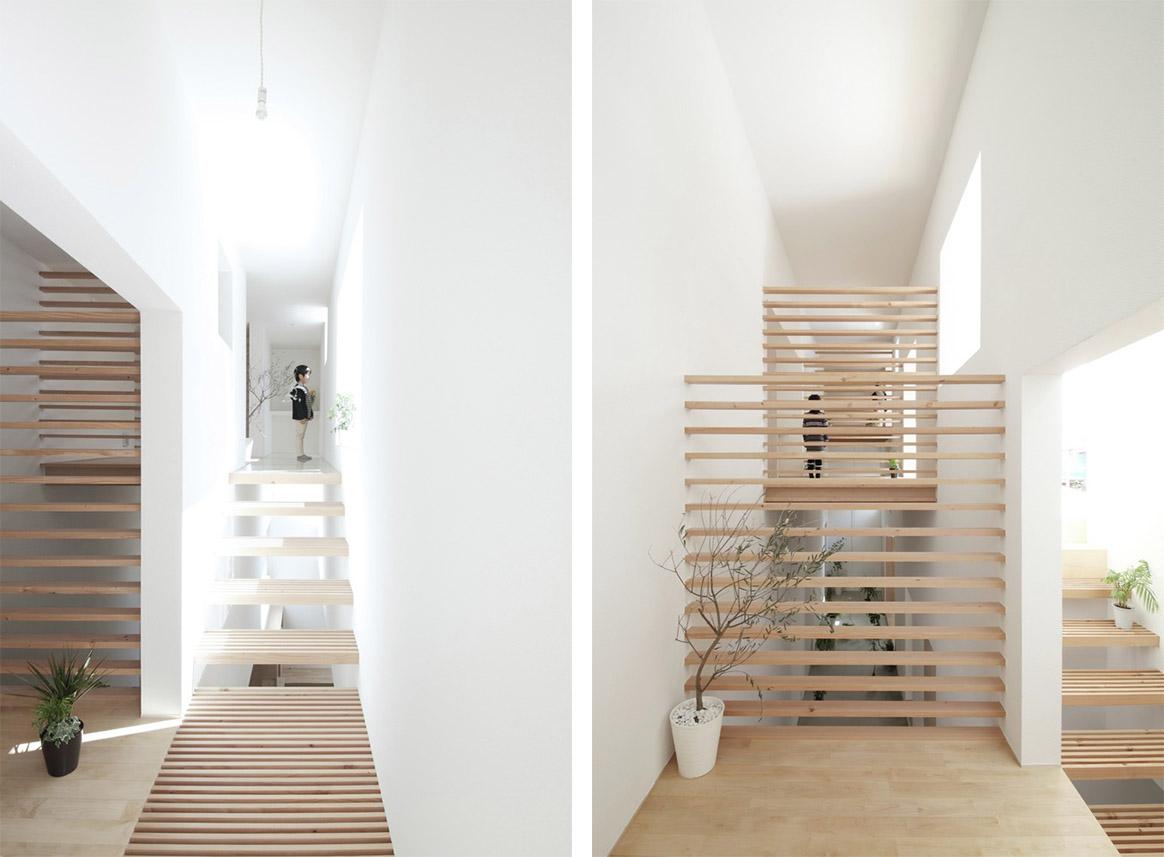Illuminazione Di Un Corridoio : House in yamanote con corridoio giardino e piattaforme sospese by
