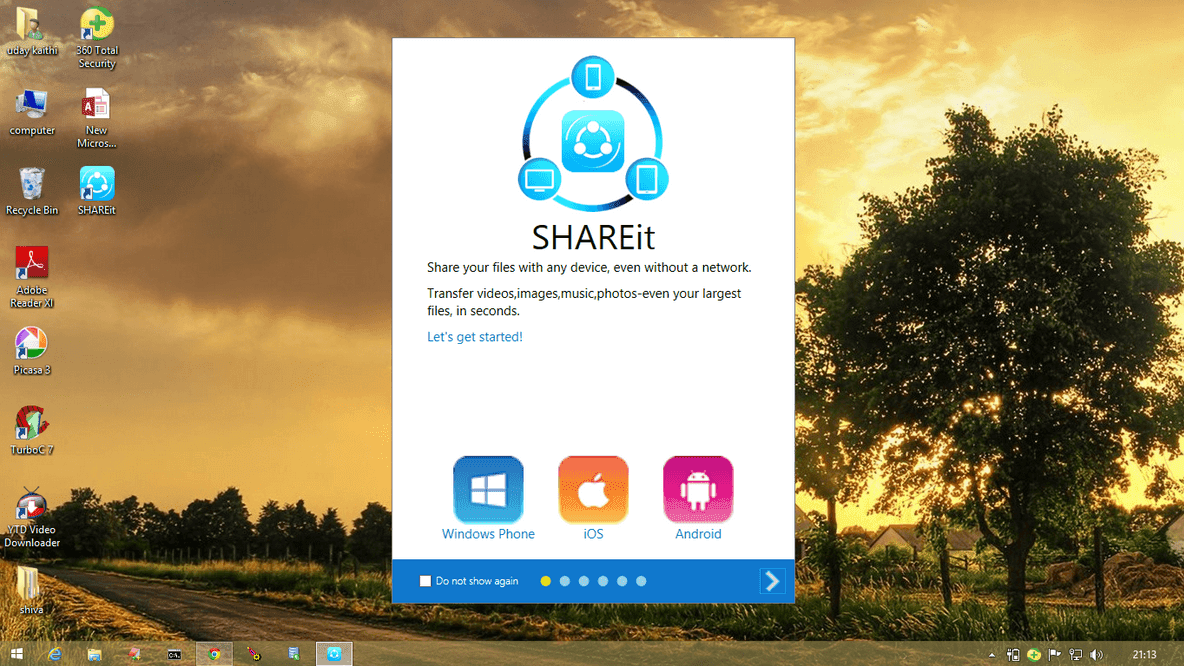 how to download shareit in computer