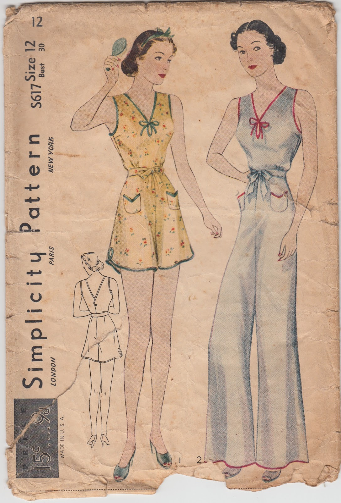 A few threads loose simplicity lingerie in the 1930s the s series s617 i have this one in my collection jeuxipadfo Choice Image