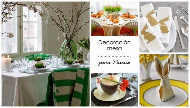 5 ideas para la mesa de pascua decoraci n for Decoracion de pascua