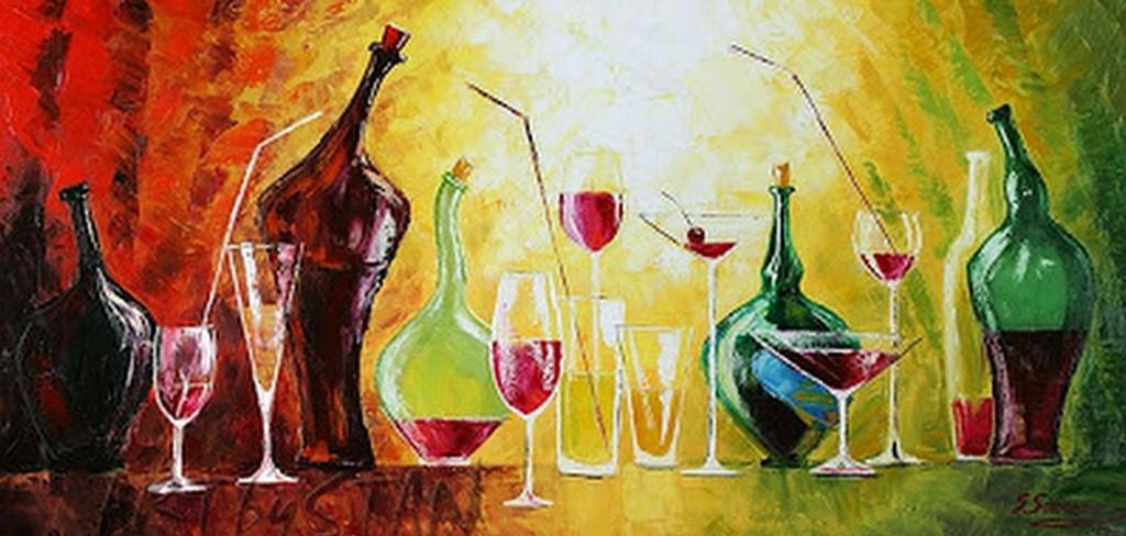 Pinturas cuadros lienzos pintura de bodegones con - Cuadros decorativos para cocina abstractos modernos ...