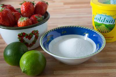 Erdbeer-Limetten-Sorbet Rezept Zutaten