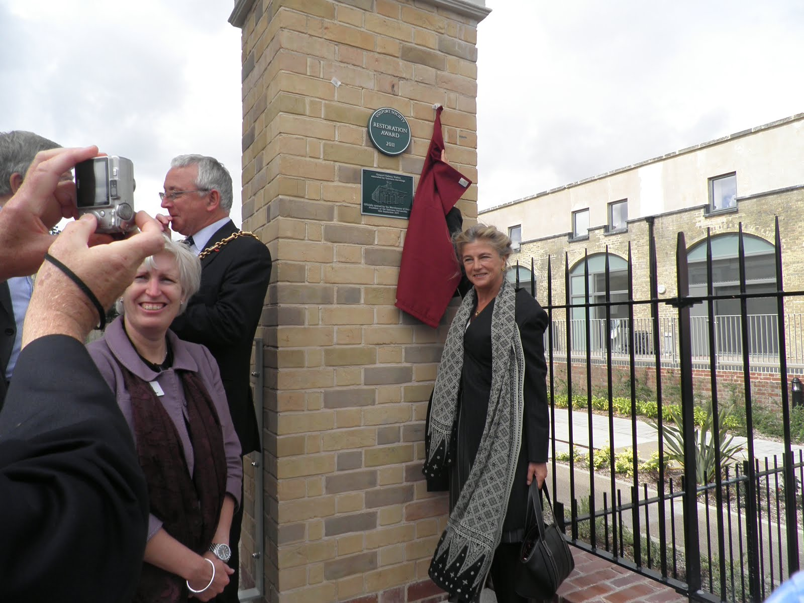 Lady Antonia opening the refurbished station
