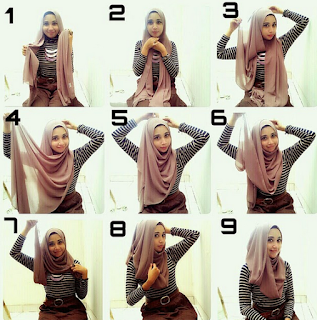 Tutorial Simple Hijab Segi Empat