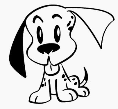desenho de cachorrinho para pintar